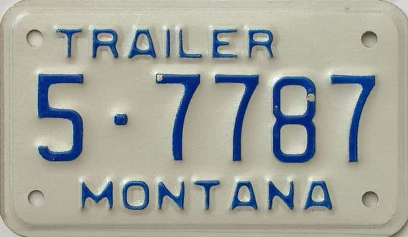 Montana  (Trailer) license plate for sale