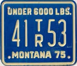 1975 Montana  (Trailer) license plate for sale