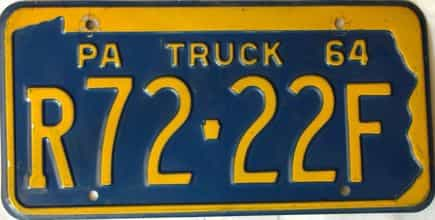 1964 Pennsylvania  (Truck) license plate for sale