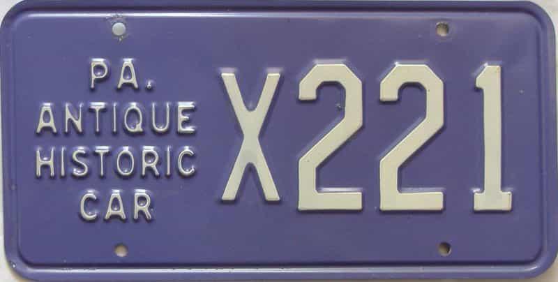 Pennsylvania license plate for sale