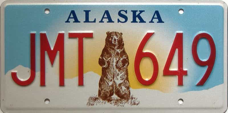 Alaska  (Single) license plate for sale