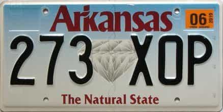 2006 Arkansas license plate for sale