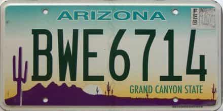 2017 Arizona license plate for sale
