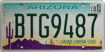 2018 Arizona license plate for sale