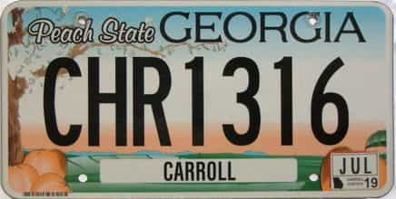 2019 Georgia Counties (Carroll) license plate for sale