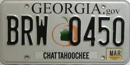 2015 Georgia Counties (Chattahoochee) license plate for sale