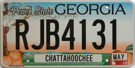 2018 Georgia Counties (Chattahoochee) license plate for sale