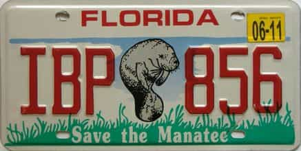2011 Florida license plate for sale
