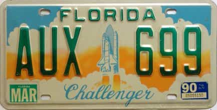 1990 Florida license plate for sale