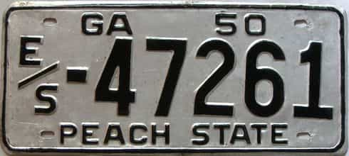 YOM 1950 Georgia license plate for sale