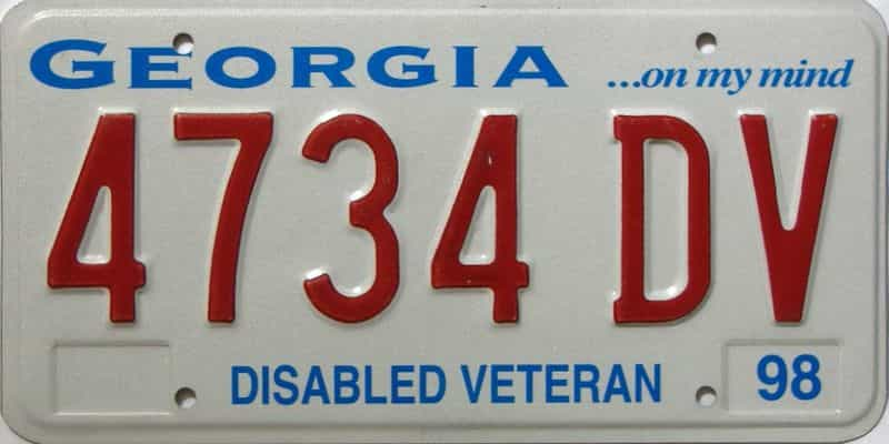 1998 Georgia license plate for sale