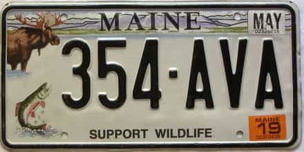 2019 Maine license plate for sale