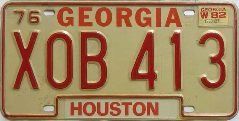 YOM 1982 Georgia YOM 1971 - 1989 license plate for sale