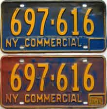 1967 New York  (Non Passenger) license plate for sale