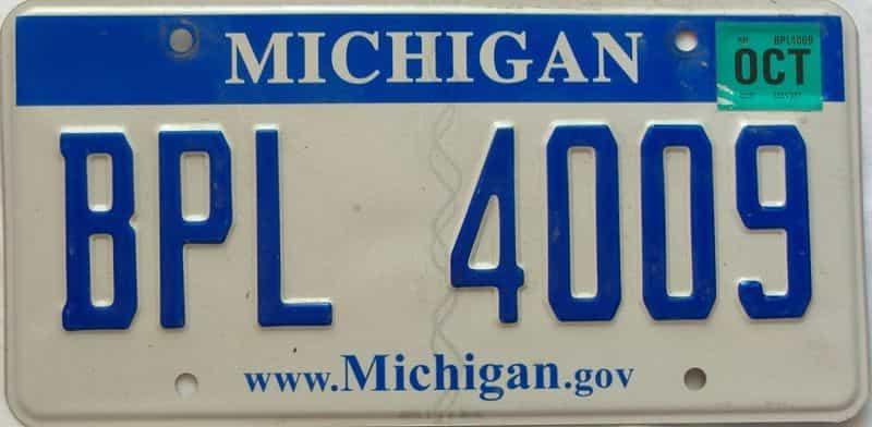 2008 Michigan license plate for sale