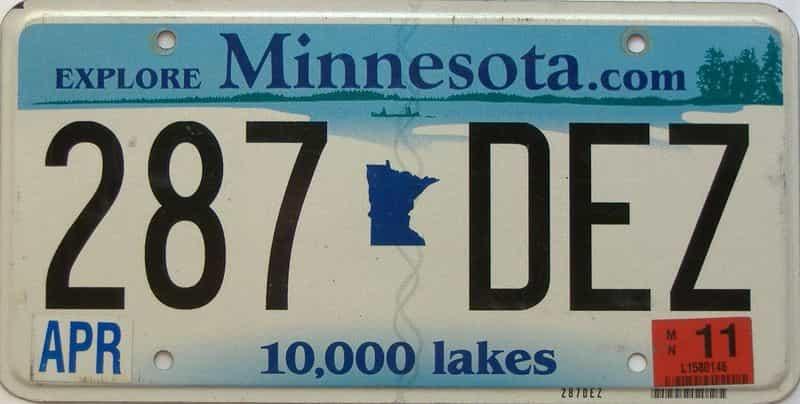 2011 Minnesota  (Single) license plate for sale