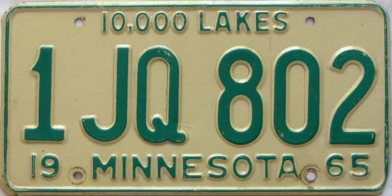 1965 Minnesota  (Single) license plate for sale