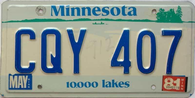 1981 Minnesota  (Single) license plate for sale