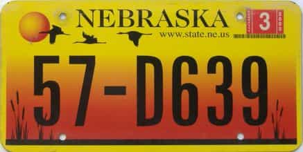 2005 Nebraska  (Single) license plate for sale