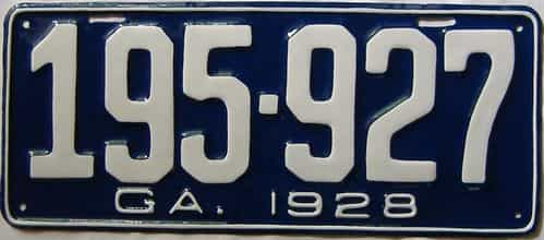 YOM RESTORED 1928 Georgia license plate for sale