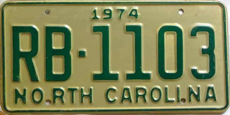 1974 North Carolina  (Truck) license plate for sale