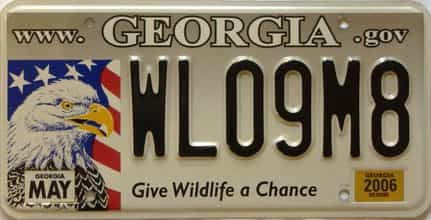 2006 Georgia license plate for sale