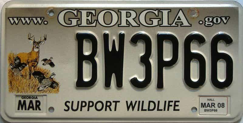 2008 Georgia license plate for sale