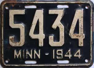 1944 Minnesota license plate for sale