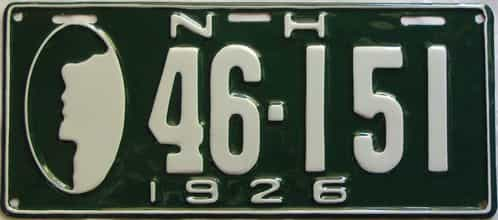 RESTORED 1926 New Hampshire  (Single) license plate for sale