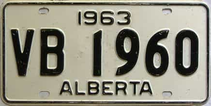 1963 Alberta  (Single) license plate for sale