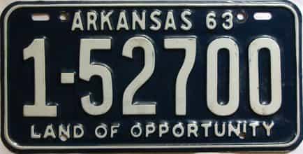 1963 Arkansas license plate for sale