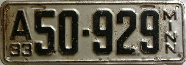 1933 Minnesota  (Single) license plate for sale