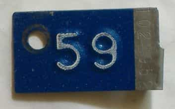 1959 Minnesota  (Single) license plate for sale