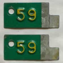 1959 Minnesota  (Pair) license plate for sale