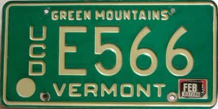 1982 Vermont  (Dealer) license plate for sale