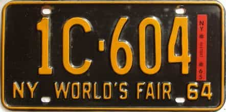 1965 New York  (DMV NOT CLEAR) license plate for sale