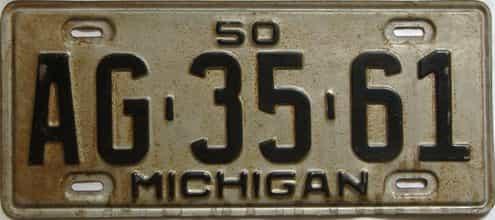 1950 Michigan license plate for sale