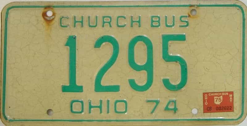 1975 OH (Non Pass) license plate for sale