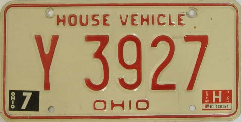 1980 OH (Non Pass) license plate for sale