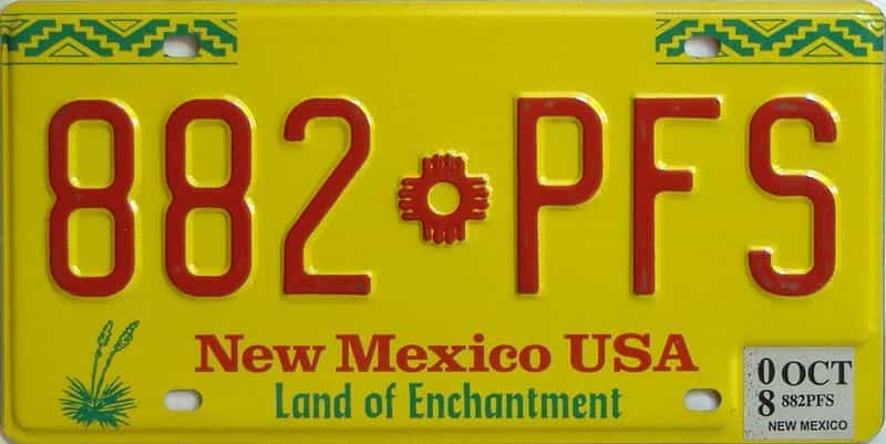 2008 New Mexico  (Natural) license plate for sale