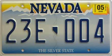 2005 Nevada  (Single) license plate for sale