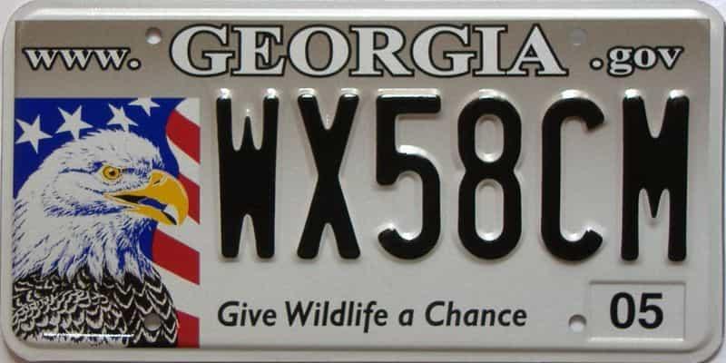 2005 Georgia license plate for sale