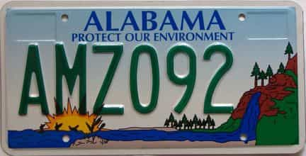 Alabama license plate for sale