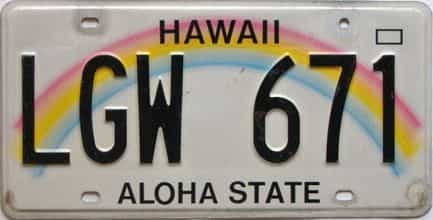 Hawaii  (Single) license plate for sale