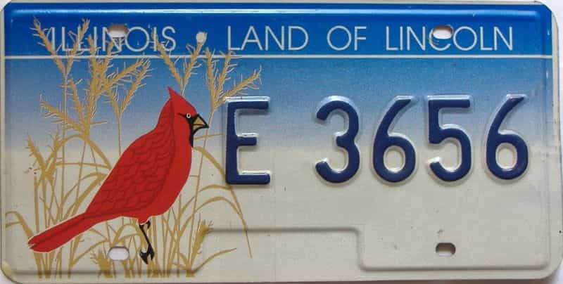 Illinois  (Single) license plate for sale