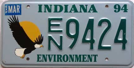 1994 Indiana license plate for sale