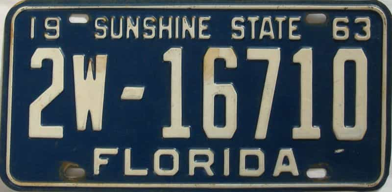 1963 FL license plate for sale