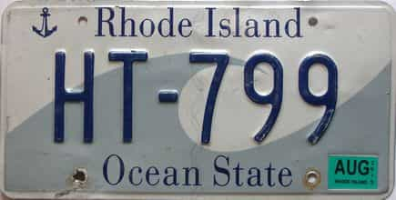 2019 Rhode Island  (Single) license plate for sale