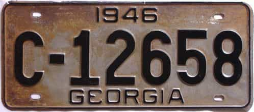 YOM 1946 Georgia  (Relettered) license plate for sale