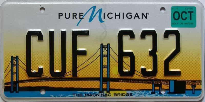 2020 Michigan license plate for sale